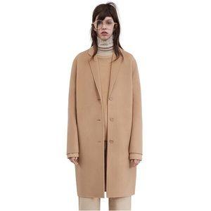 Acne Studios Avalon Doublé Wool Coat, Light Camel